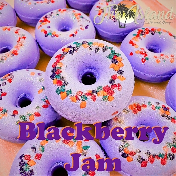 Blackberry Jam Donut Bath Bomb