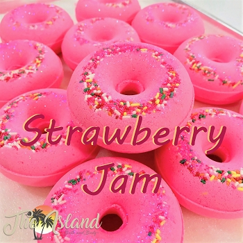 Strawberry Jam Donut Bath Bomb