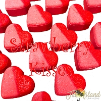 Strawberry Kisses 4 oz Bath Bomb Heart