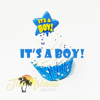 Bubble Bath Cupcake: It's A Boy