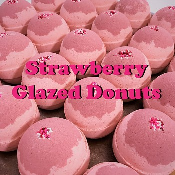 Strawberry Glazed Donuts 5.5 oz Bubble Bath Bomb