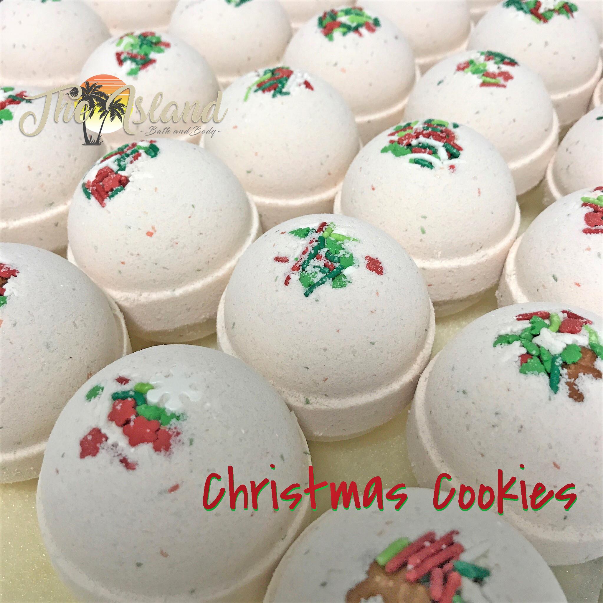 Christmas Bath Bombs.Christmas Cookies 5 5 Oz Bath Bomb By The Island Bath Body