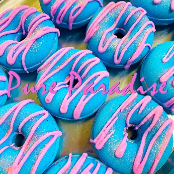 Pure Paradise Donut Bath Bombs