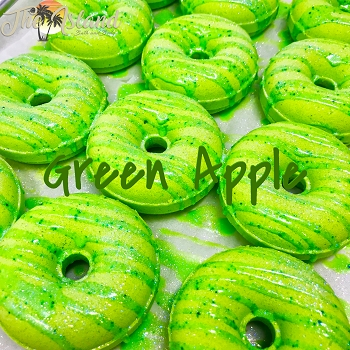 Green Apple Glazed Donut Bath Bomb