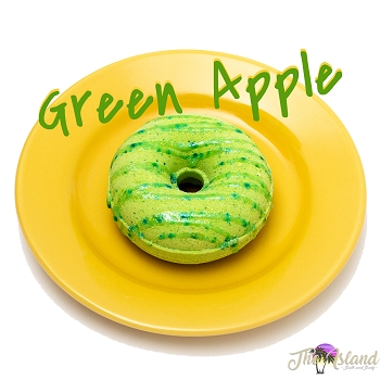 Green Apple Glazed Donut Bath Bombs
