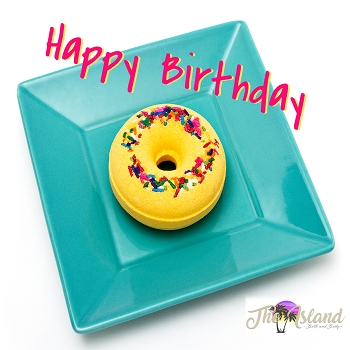 Happy Birthday Donut Bath Bombs