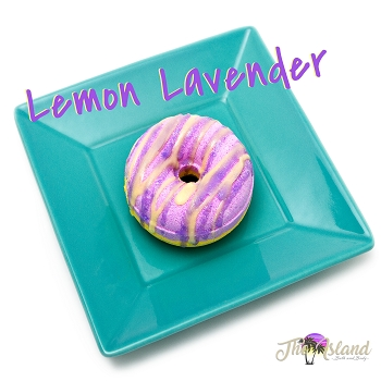 Lemon Lavender Donut Bath Bombs