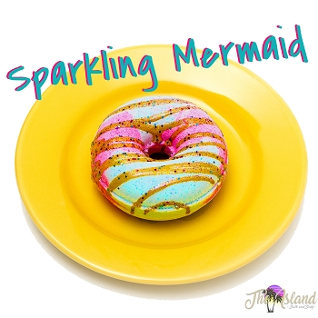 Sparkling Mermaid Glazed Donut Bath Bombs
