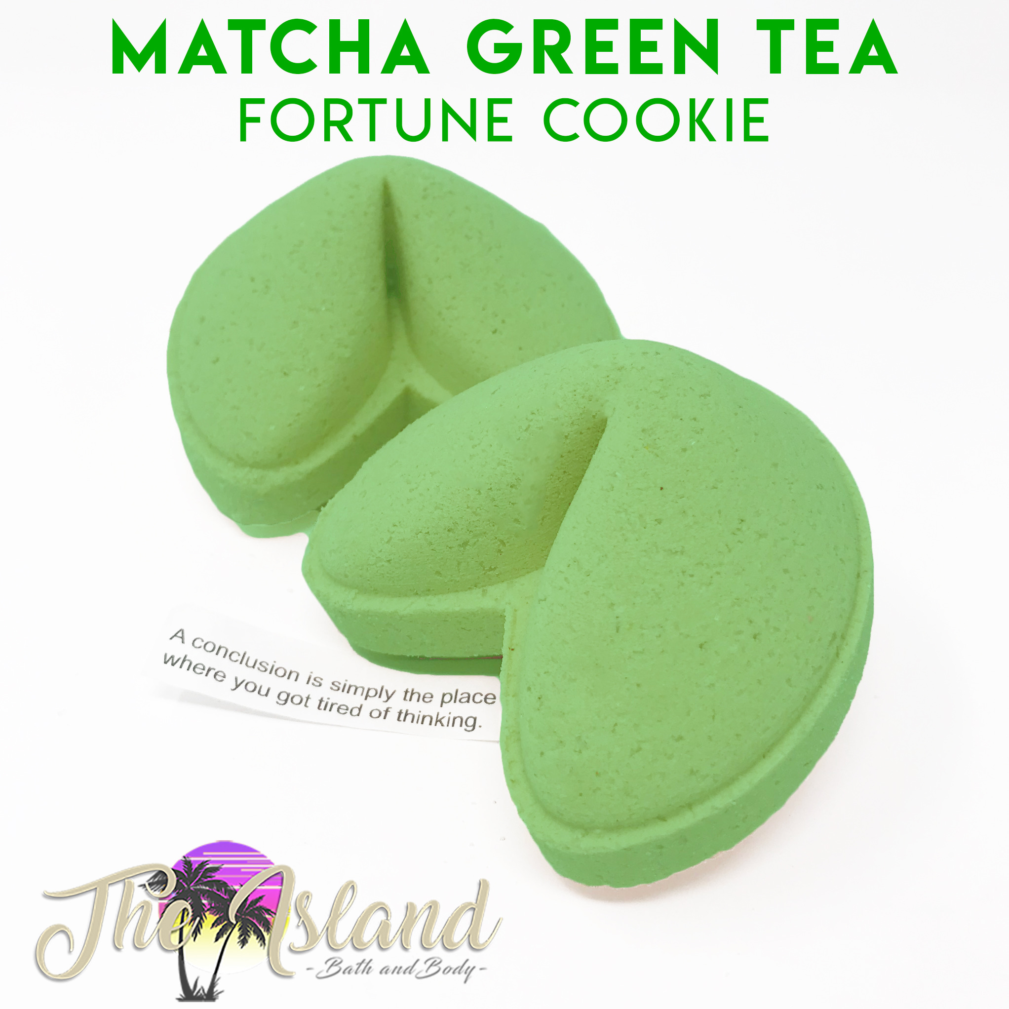 Matcha Green Tea Fortune Bombs