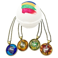 House Sorting Wizard World Pendant & Color Surprise Bath Bomb Gift Box