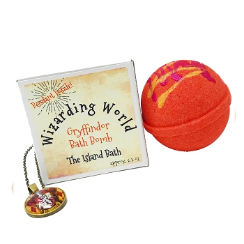 RED Bath Bomb Gift Box with Pendant