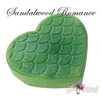 Sandalwood Romance 5.5 oz Bath Bomb Heart