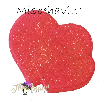 Misbehavin' 5.5 oz Bath Bomb Heart