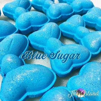 Blue Sugar 5.5 oz Bath Bomb Bow Tie