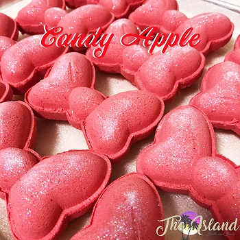 Candy Apple 5.5 oz Bath Bomb Bow Tie