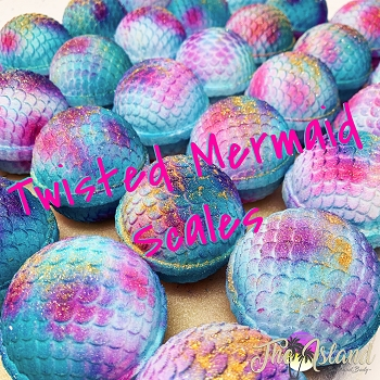 Twisted Mermaid Scales Bath Bombs