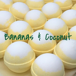 Bananas & Coconut 5.5 oz Bath Bomb