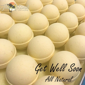 Get Well Soon 4.5 oz Natural Bath Bombs