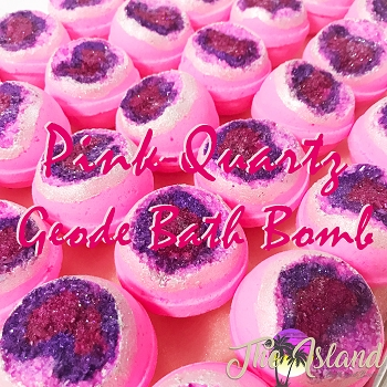 Geode: Pink Quartz Bath Bombs