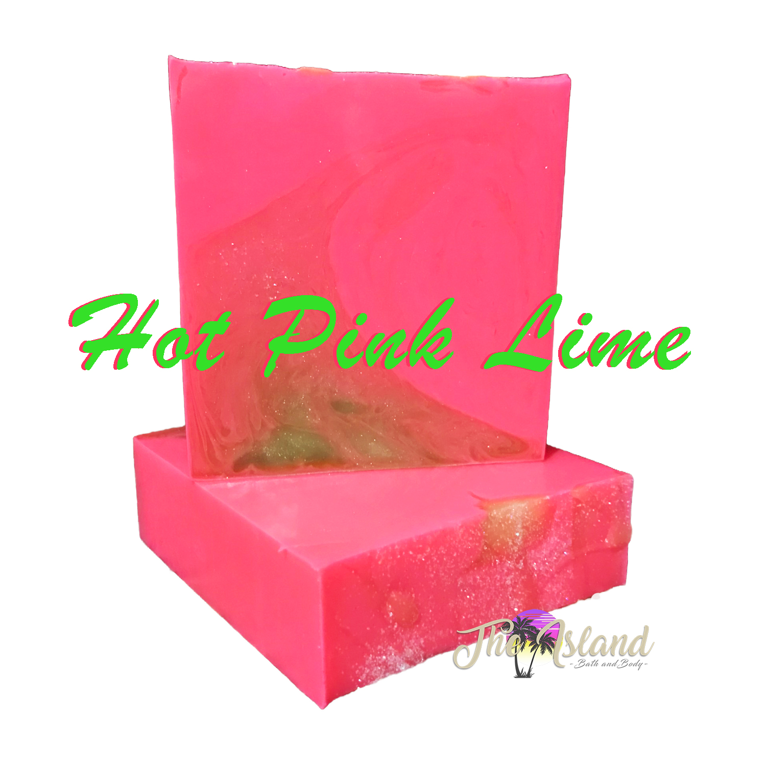 Hot Pink Lime Coconut Milk Soap