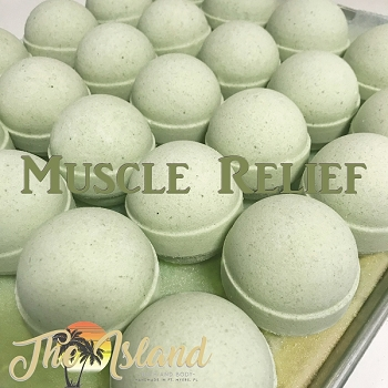 Muscle Relief 2 oz Natural Bath Bombs