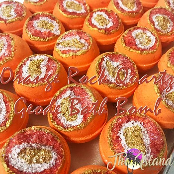 Geode: Orange Rock Quartz Bath Bombs