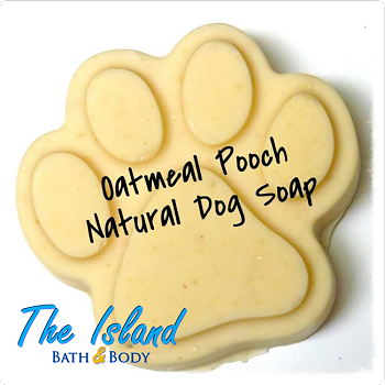 Oatmeal Pooch Natural Dog Soap (Paw Print)
